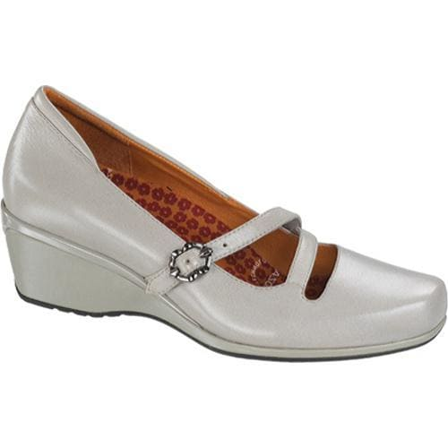 Women's Aetrex Bianca Mary Jane Cross Strap Ivory Leather