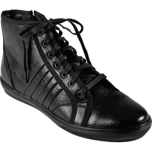 Men's Boston Traveler High Top Lace-up Sneakers Black