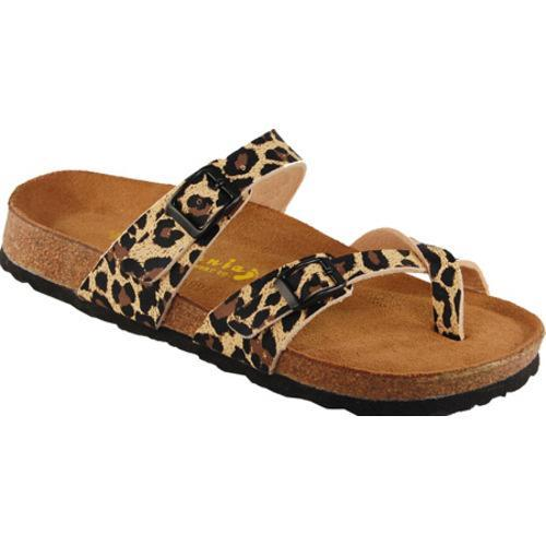 Women's California Footwear Co. Monterey Brown Leopard Nubuck