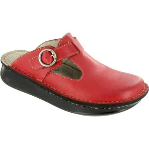 Women's Eastland Clogwork Red Leather
