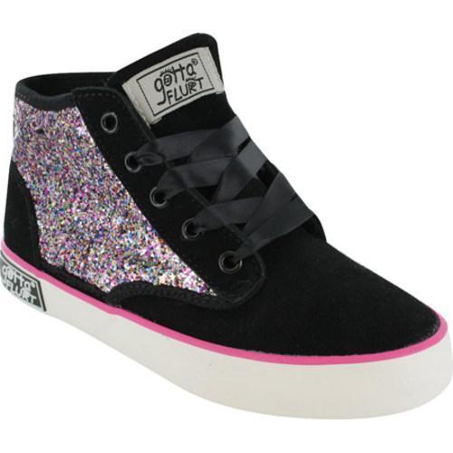 Girls' Gotta Flurt Dakar Glitter Black Polyurethane/Multi Glitter