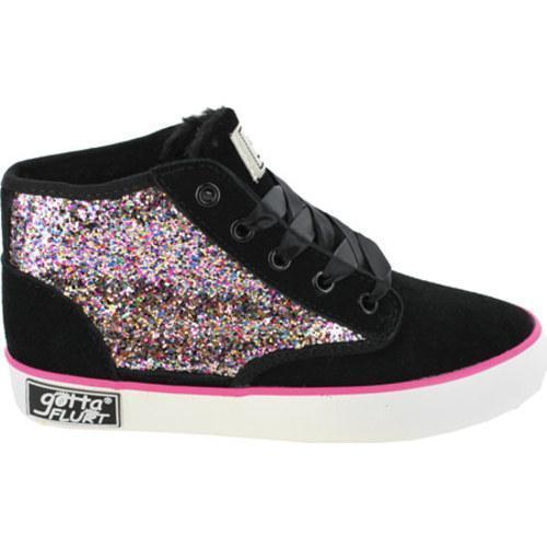 Girls' Gotta Flurt Dakar Glitter Black Polyurethane/Multi Glitter - Thumbnail 1
