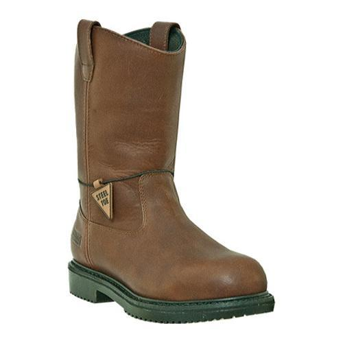 Men's McRae Industrial 10in Insulated Steel Toe Oil Field Wellington MR854 Brown Tumbled Leather