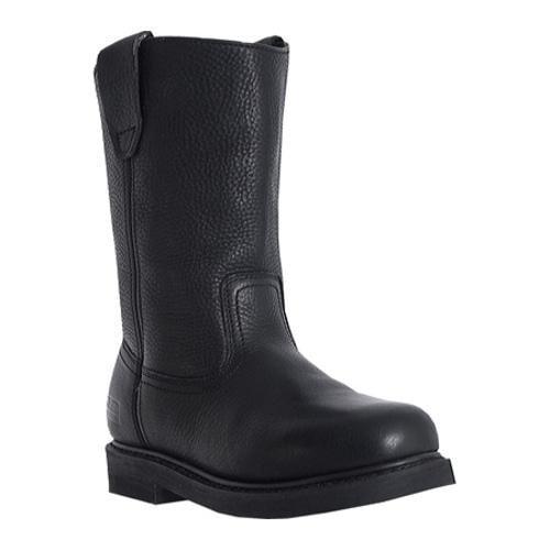 Men's McRae Industrial 10in Wellington MR85120 Black Tumbled Leather