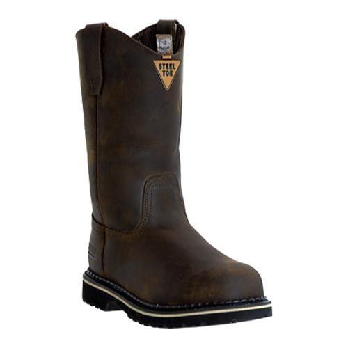 Men's McRae Industrial 11in Safety Toe Wellington MR85344 Dark Brown
