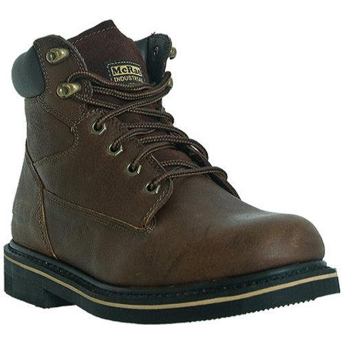 Men's McRae Industrial 6in Lacer MR86122 Peanut Brown Tumbled Leather - Thumbnail 0