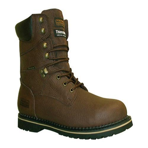 Men's McRae Industrial 8in Insulated Waterproof Lacer MR88104 Brown Pitstop Tumbled Waterproof Leather