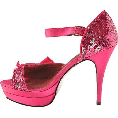 Women's Night Moves by Allure Moonbeam Pink Silk Satin/Sequin