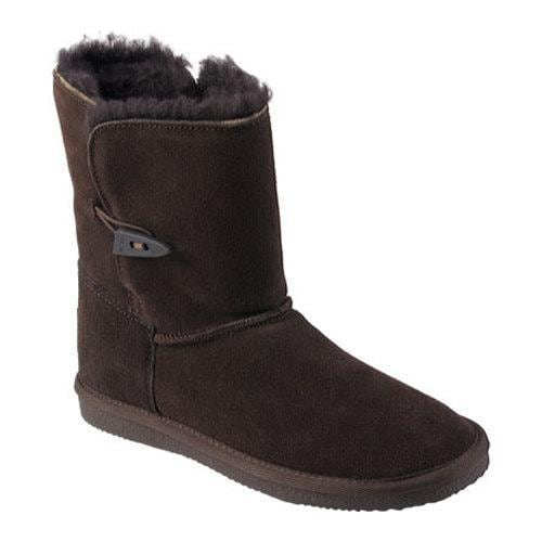 Women's Pawz by Bearpaw Shearling Lined Suede Leather Boot Chocolate