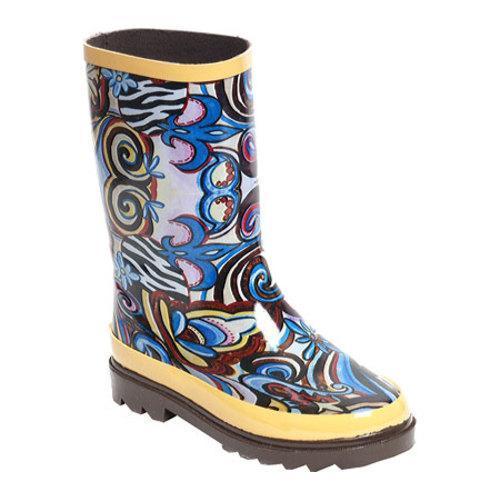 Girls' RainBOPS Classic Style Rain Boot Art Fusion