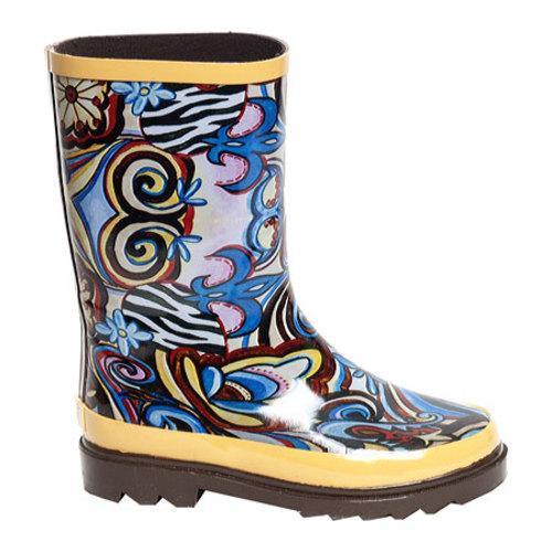 Girls' RainBOPS Classic Style Rain Boot Art Fusion - Thumbnail 1