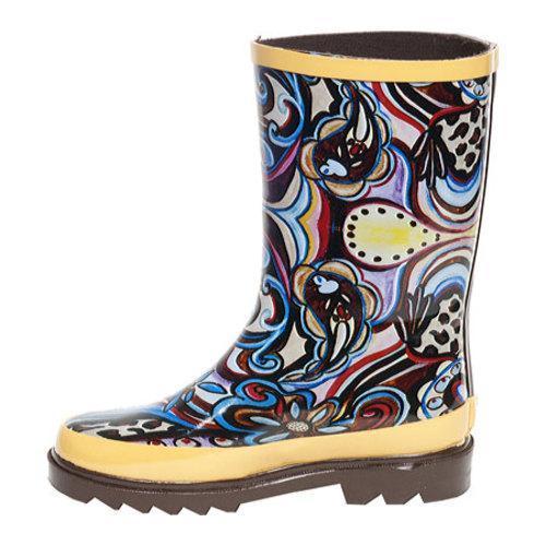 Girls' RainBOPS Classic Style Rain Boot Art Fusion - Thumbnail 2
