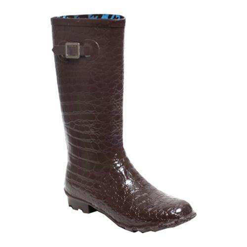 Women's RainBOPS Croc Style Rain Boot Chocolate Kiss