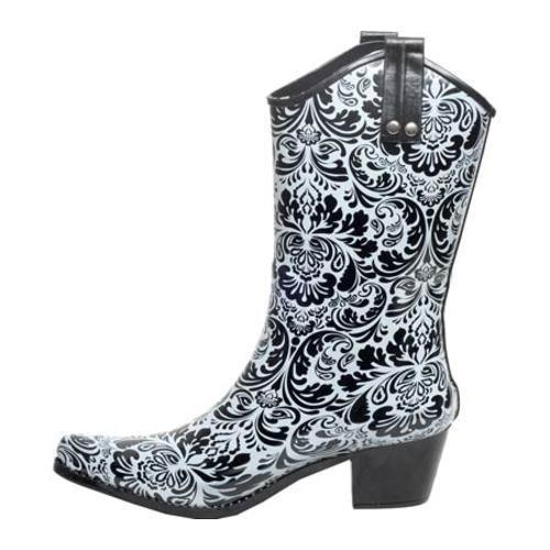 Women's RainBOPS Cowgirl Style Rain Boot Dusty
