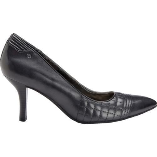 Women's Rockport Lianna Quilted Pump Black Full Grain Leather - Thumbnail 1
