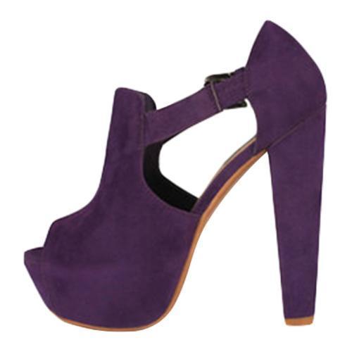 Women's Wild Diva Daisy-02 Purple Faux Suede