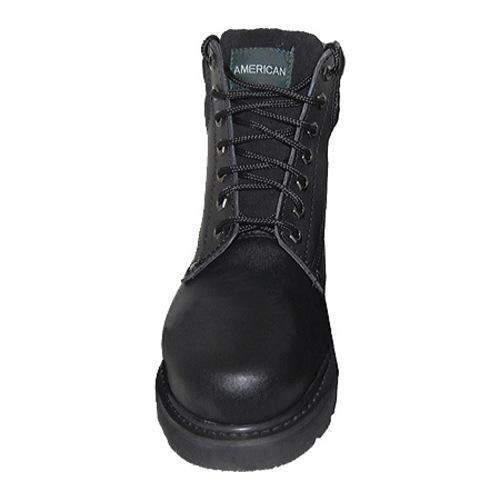 Men's American Rugged Wear Lightweight Steel Toe Leather Boot Black Leather