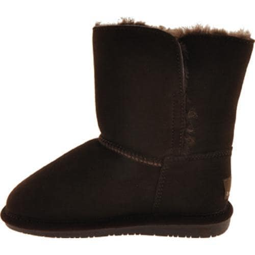 Girls' Bearpaw Abigail Chocolate - Thumbnail 2