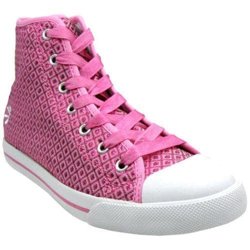 Women's Burnetie High Top Polyester Chuck Pink