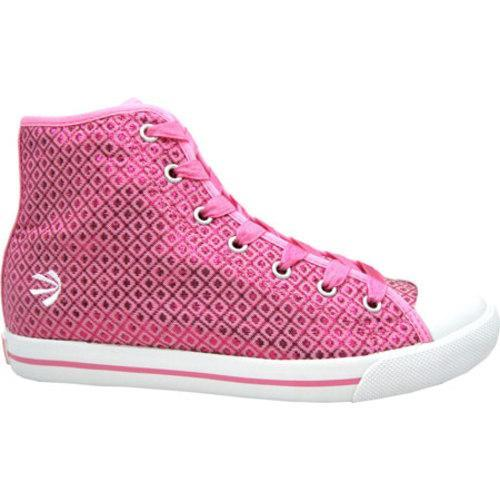 Women's Burnetie High Top Polyester Chuck Pink - Thumbnail 1
