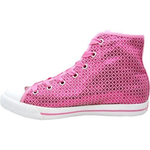 Women's Burnetie High Top Polyester Chuck Pink - Thumbnail 2