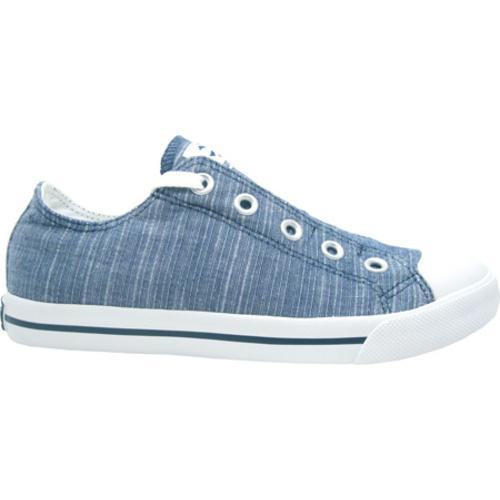 Men's Burnetie Slip Stripe White/True Blue - Thumbnail 1