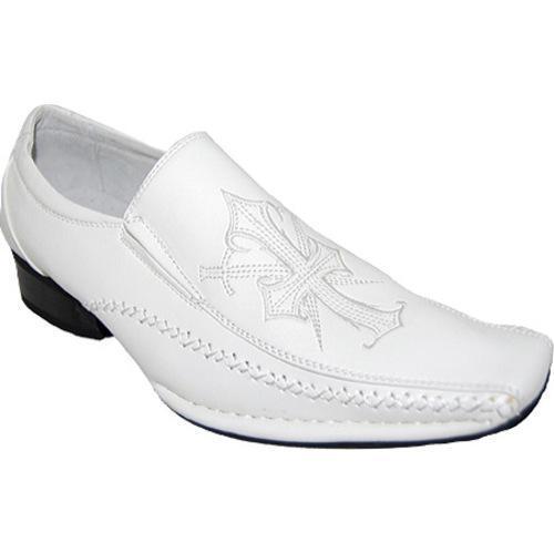 Men's Giorgio Baccini Kingdom Cross Leather Line Shoes White