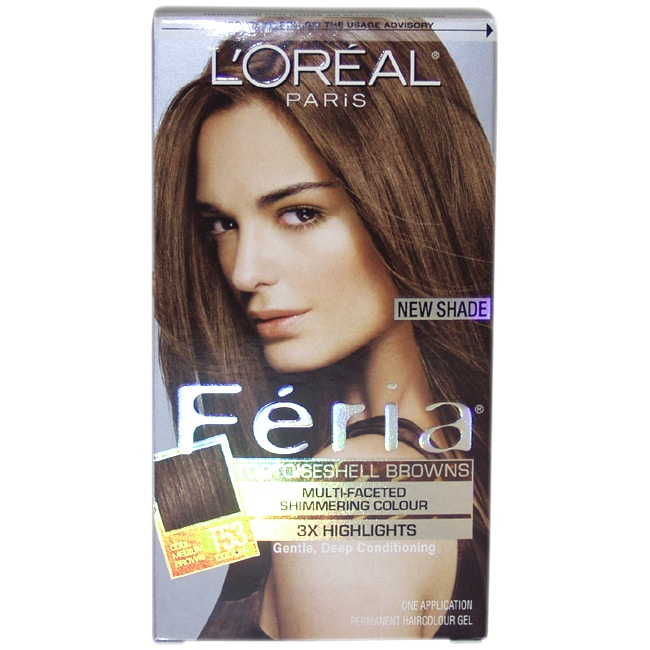 L'Oreal Feria Multi-Faceted Shimmering Color 3X Highlights #T53 Cool Medium Brown