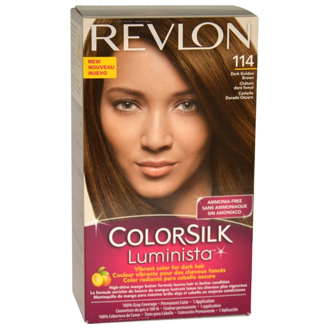 Revlon Colorsilk Luminista #114 Dark Golden Brown - 1 Application Hair Color