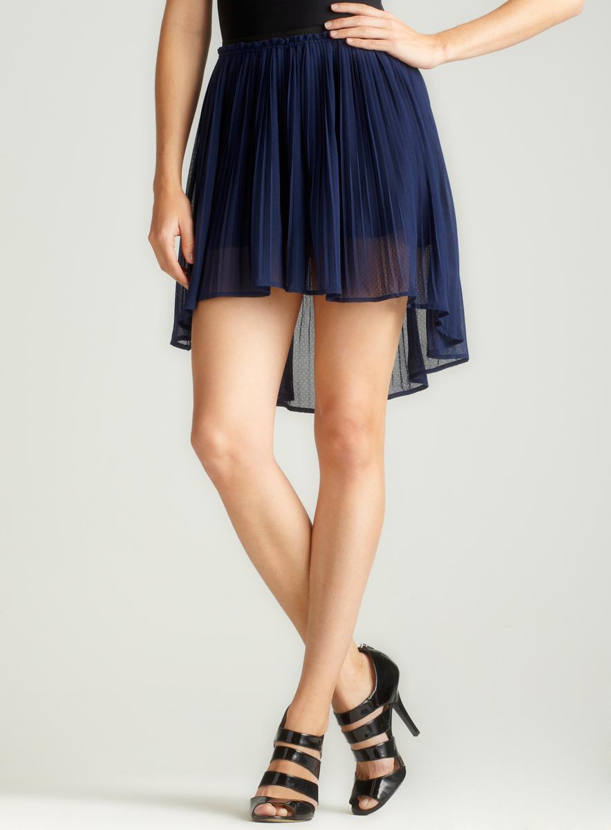 Freebird Pleated Hi-Lo Skirt