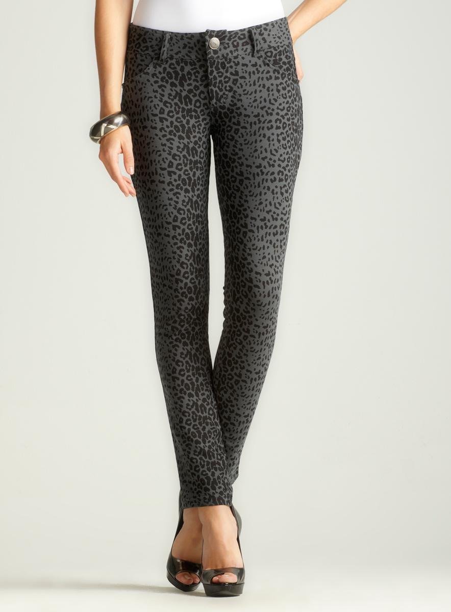 Seven 7 Cheetah Print Skinny Pant A