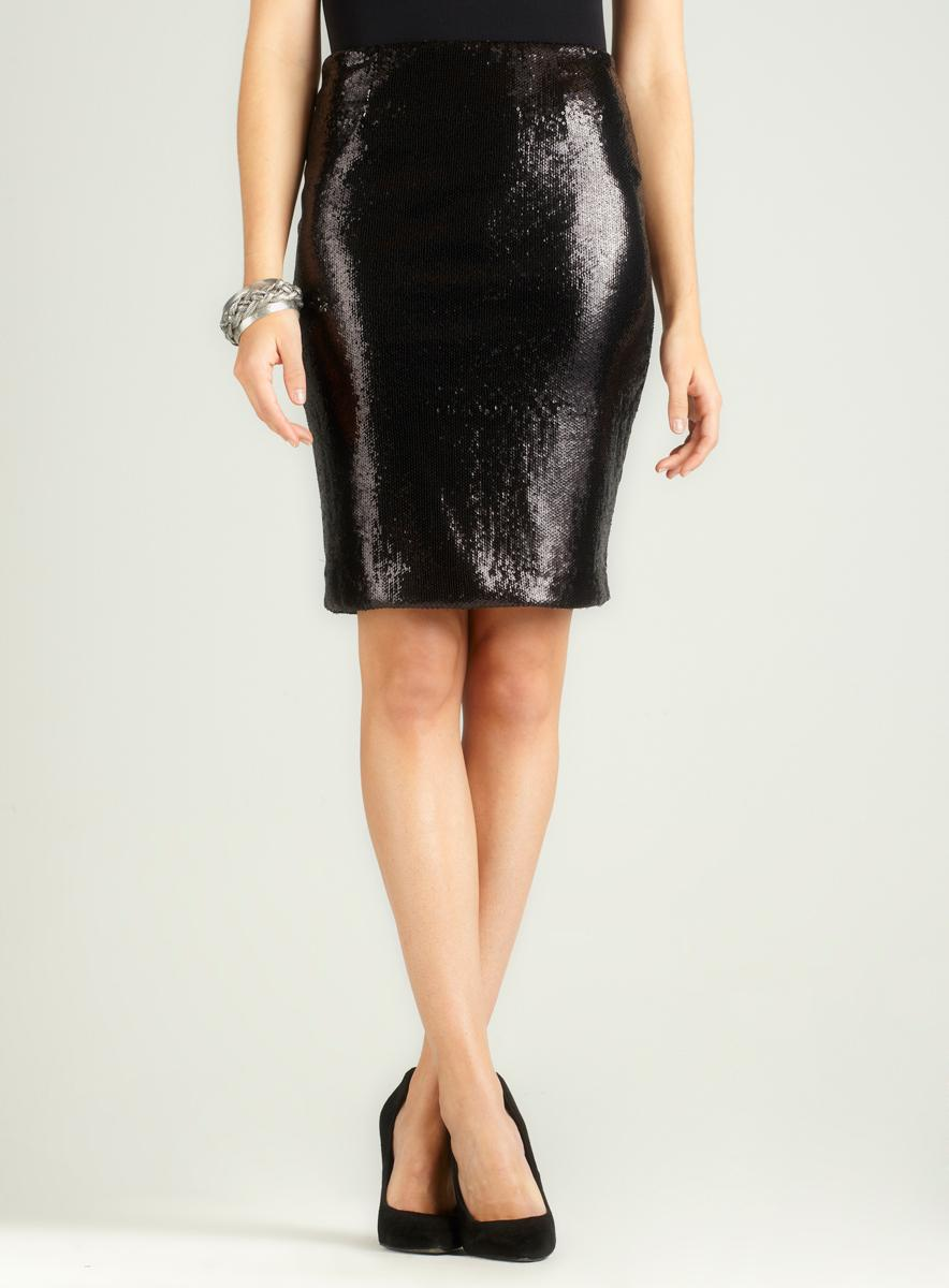 Calvin Klein Full Sequin Pencil Skirt