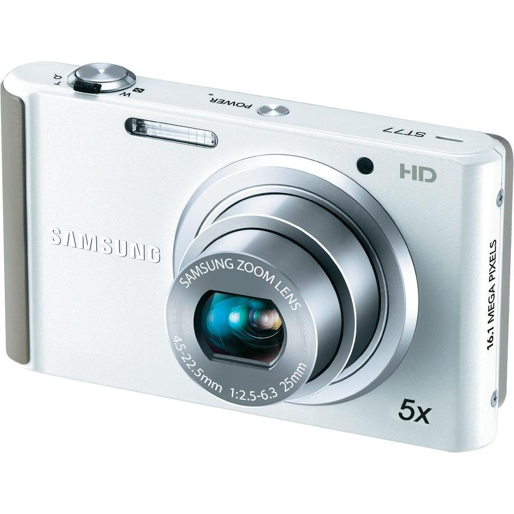 Samsung ST77 16.1MP White Digital Camera - Thumbnail 0