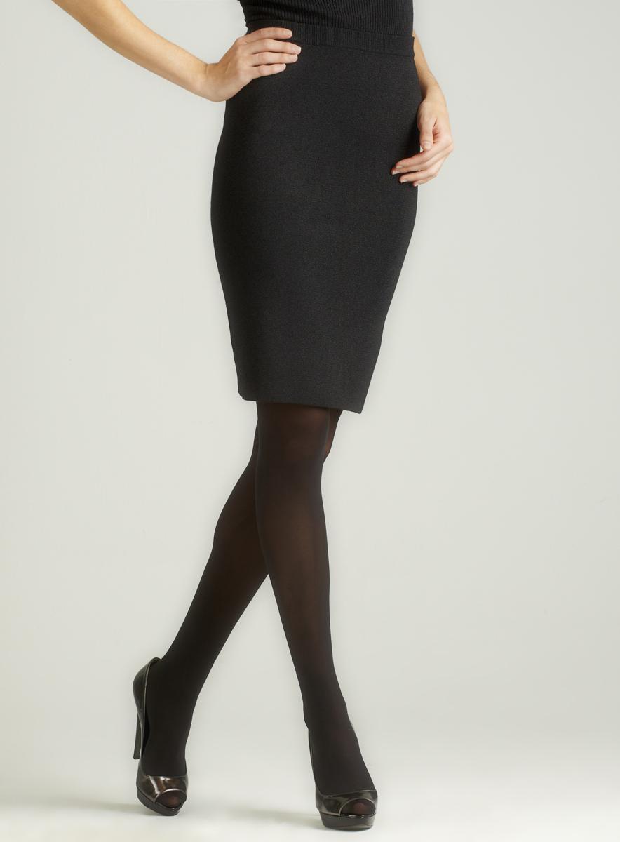 Carmen Marc Valvo Gem-Lurex Waistband Slim Skirt