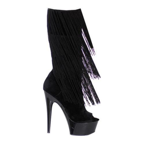 Women's Highest Heel Amber-301 Black Microsuede PU