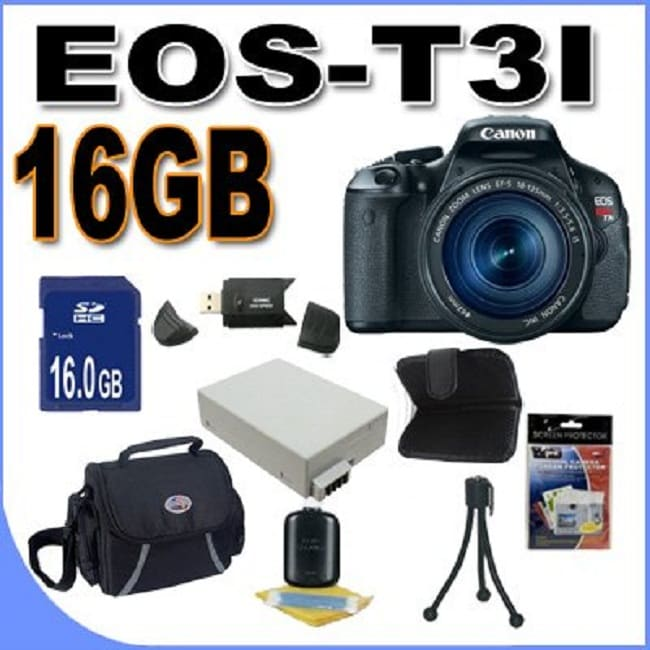 Canon EOS T3i 18MP Digital SLR Camera with 18-135mm Lens/ 16GB Bundle - Thumbnail 0