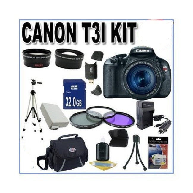 Canon EOS Rebel T3i with 18-55MM IS Lens Bundle - Thumbnail 0