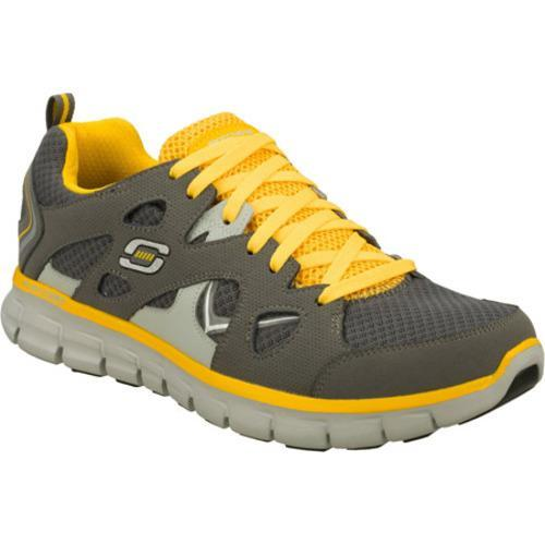 Men's Skechers Synergy Gridiron Gray/Yellow