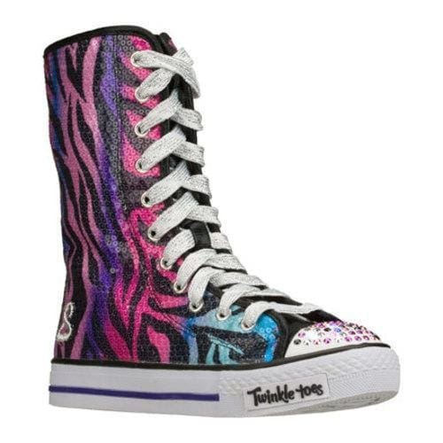 Girls' Skechers Twinkle Toes Shuffles Notorious Black/Multi
