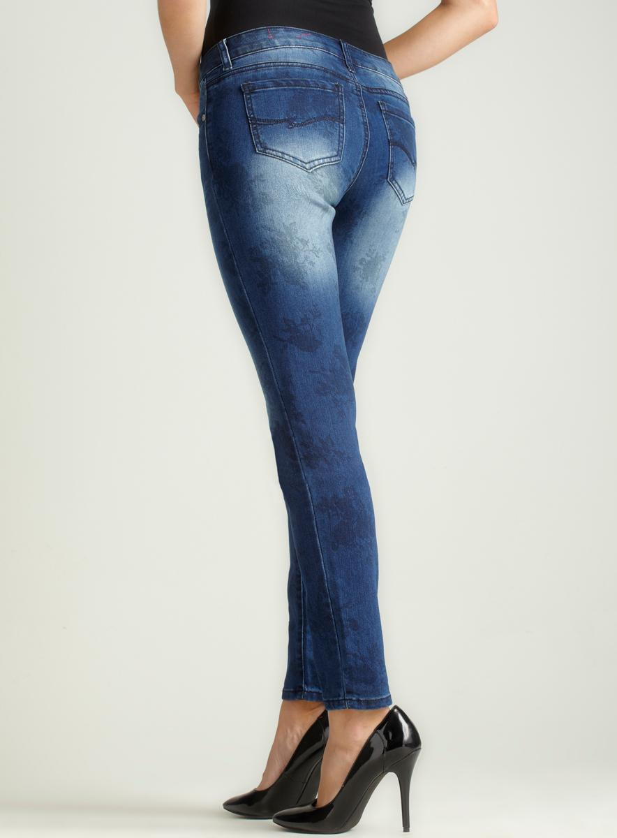 Almost Famous Faded Floral Stamped Skinny