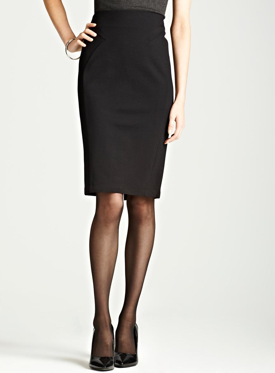 Carmen Marc Valvo Black Ponte Skirt