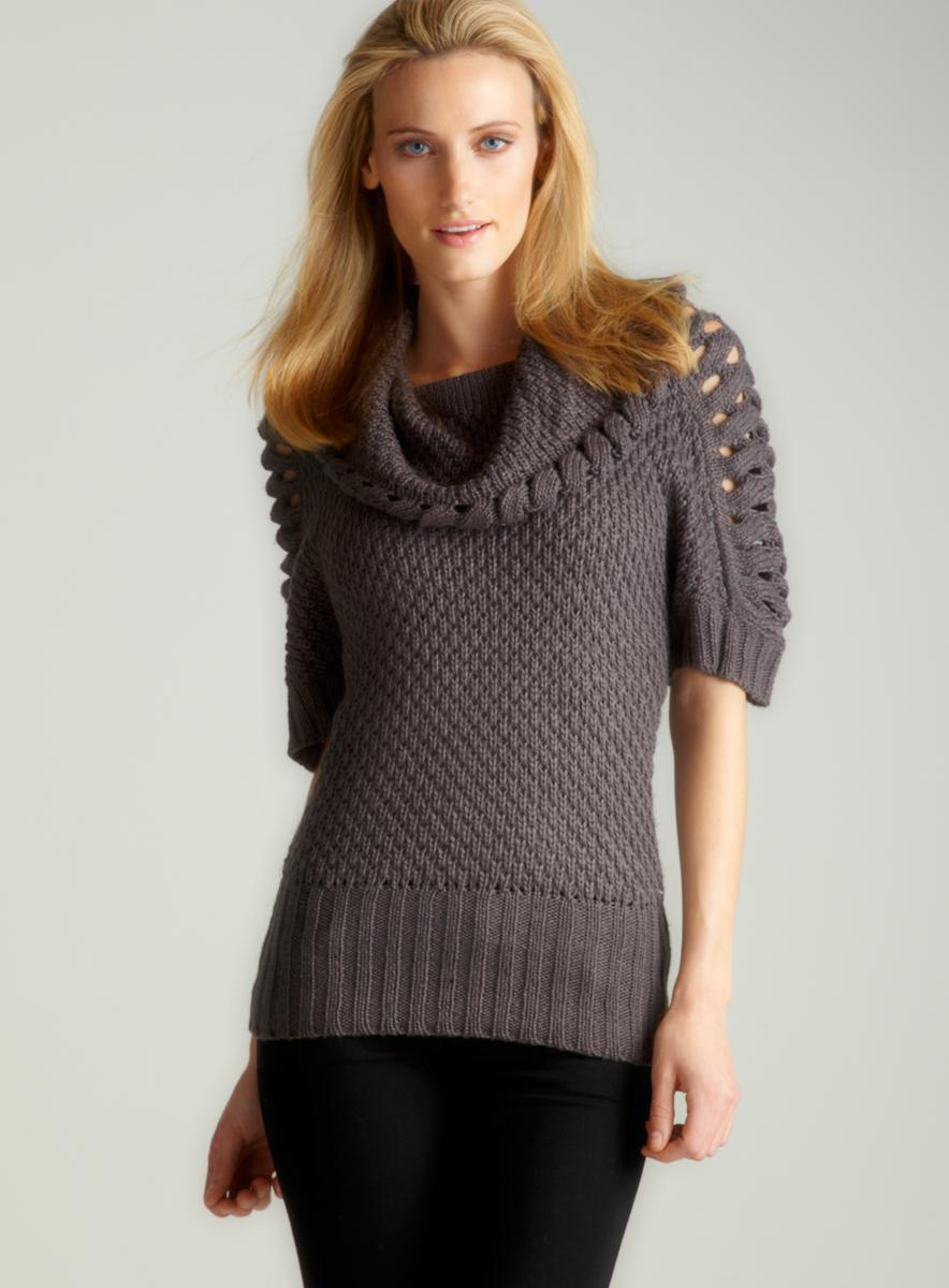 Annalee + Hope S/S  Chunky Sweater In Char