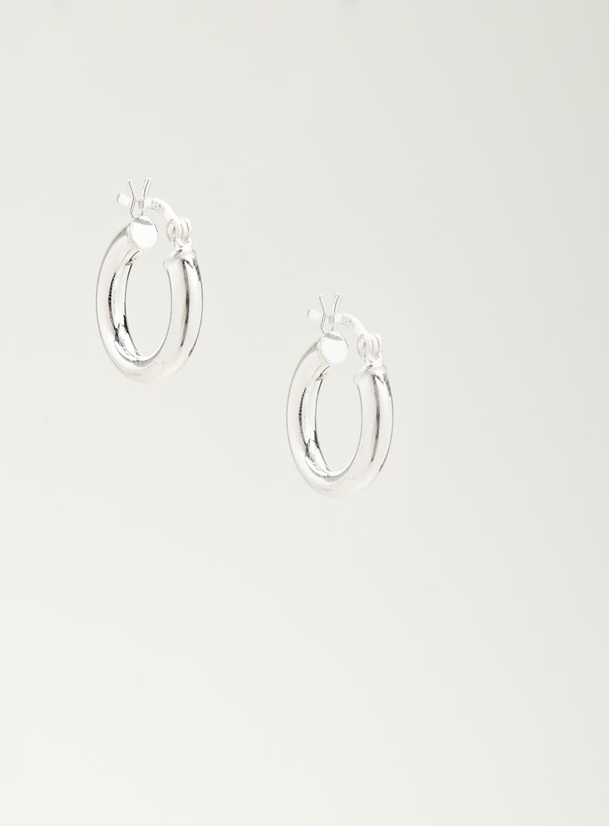 Nes Group Sterling Silver 15Mm Hoops