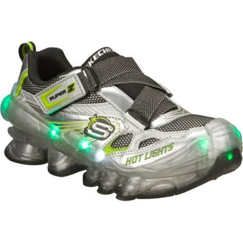 Boys' Skechers Hot Lights Hexton Silver/Green