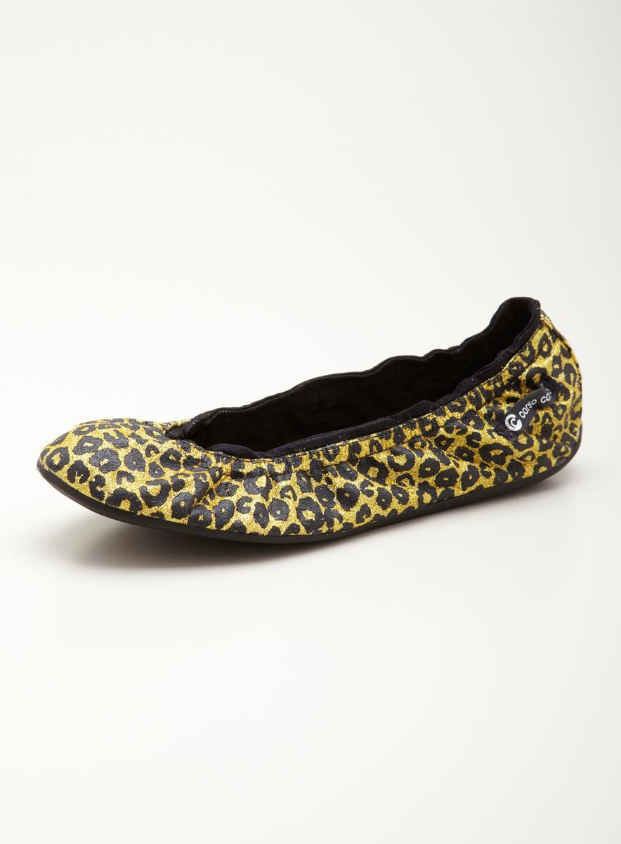 Ballasox Prince Flat In Leopard Glitter