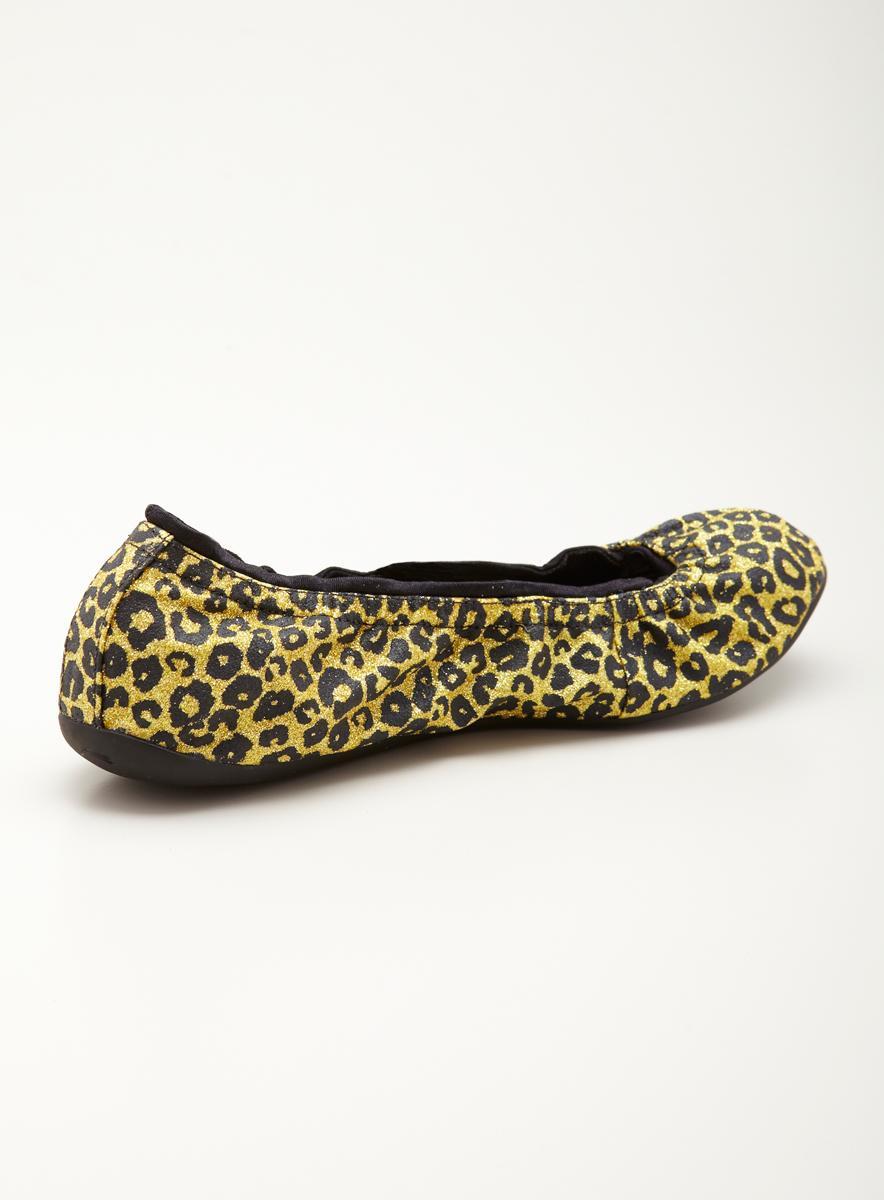 Ballasox Prince Flat In Leopard Glitter - Thumbnail 1