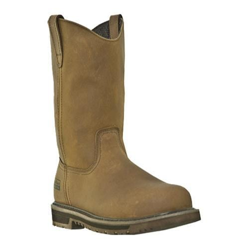 Men's McRae Industrial 10in ST Waterproof Wellington MR85372in Tan Leather
