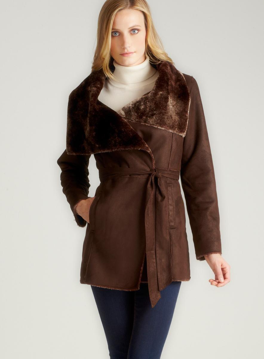 Romeo & Juliet Couture Long Shearling Jacket