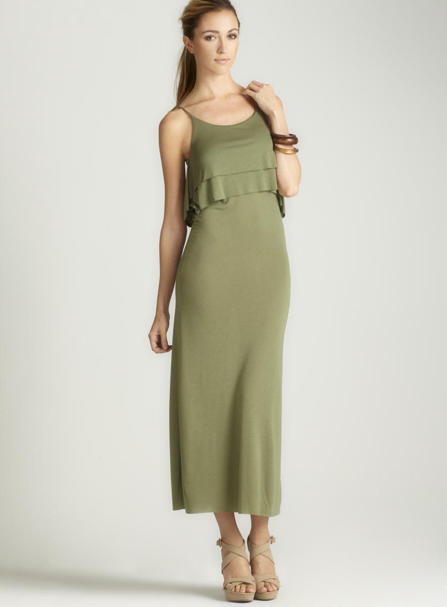 Anama Double Tier Popover Maxi Dress