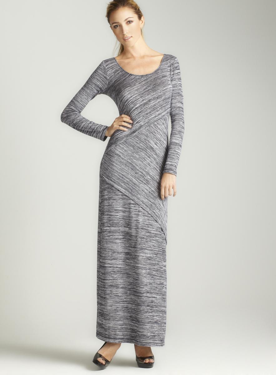 Max Studio Variegated Jersey Maxi Dress